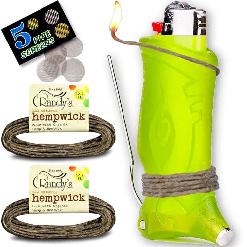 Toker Poker Hemp Wick Bundle – Bic Lighter Case With 25 Feet Of All Natural Hemp Wick – Made With Organic Hemp & Beeswax…