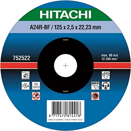 Hikoki 752522 - Disco de corte (metal) 125X2.5