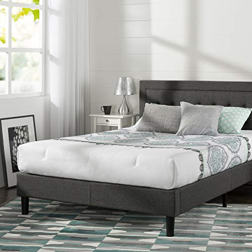 Zinus Dachelle Platform Bed Frame with Knitted Headboard