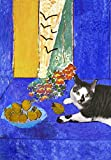 Henri Matisse Still Life Handmade Cat Greeting Cards, Blank Notecards, Singles and Sets, Artwork By Deborah Julian (1)