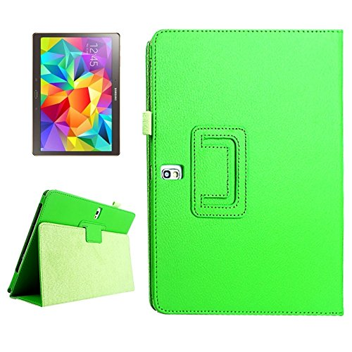Compatible With Samsung Galaxy Tab S 10.5 / T800 Lichee Texture Horizontal Flip Leather Case With Holder Flat shell, Protective case (SKU : S-SCS-1509G)