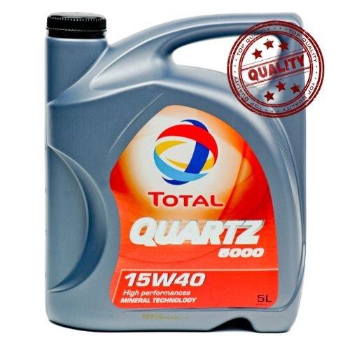 Aceite lubricante coche Total Quartz 5000 15W40 5 litros.