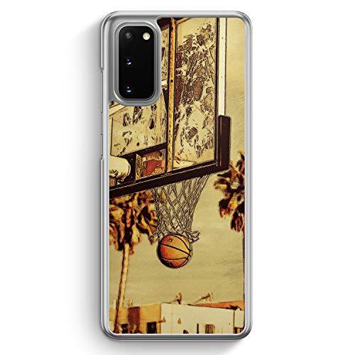 Basketball Cartoon - Hülle für Samsung Galaxy S20 - Motiv Design Sport Cool - Cover Hardcase Handyhülle Schutzhülle Hülle Schale