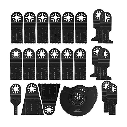 T98 ブレードカットソー マルチツール用替刃セット 23点 日立 マキタ ボッシュ等多機種対応 木材釘金属切断 先端工具セット 鋸刃互換 電動工具アクセサリー メタル