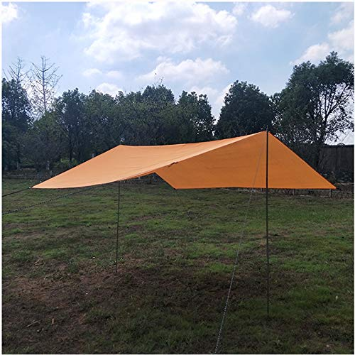 Newgreeny Outdoor Tent Waterproof Sunscreen Awning Camping Pergola Oxford Cloth 445 * 300CM (including accessories) Orange
