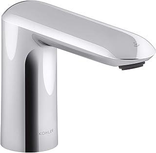 Kohler K-104K37-SANA-CP Kumin Touchless Bathroom Sink Faucet with Kinesis Sensor Technology, DC Powered, Chrome Finish