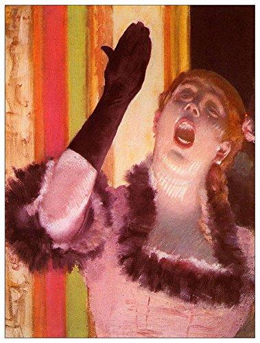 ArtPlaza Degas Edgar-De zanger met de handschoen Decoratief Paneel, Hout, Multi-Colour, 60 x 1.8 x 80 cm
