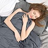 """Ourea Weighted Blanket for Kids (10 lbs, 48"""" x 72"""", Twin Size) Evenly Distributed Weight, Organic Cooling Cotton with Glass Beads"""