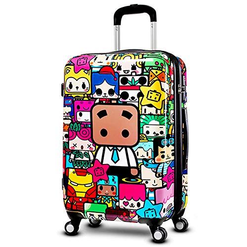 HWYP Trolley koffer, kinderwachtwoord, universele wielbagage, 20/24/28 inch cartoon koffer, mannen en vrouwen, instapkoffer stijlnaam 24 Kleur