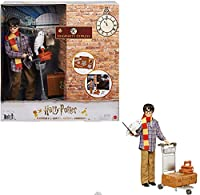 Harry Potter Collectible Platform 9 3/4 Doll (10-inch), Posable, Wearing Travel Fashion, with Hedwig, Luggage & Accessories, Gift for Collectors and Kids 6 Years Old and Up