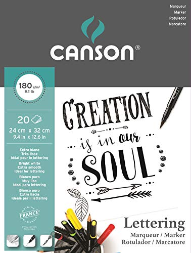 Canson Lettering Marker Block, 24 x 32 cm, 20 Blatt, 180 g/m²