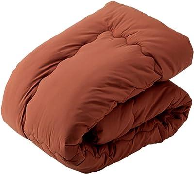 アイリスプラザ 掛け布団 シンサレート入り 高い保温性 肌触りふわふわ フリース ホコリ出にくい 軽量 無臭 速乾 洗濯機対応 収納ケース付 シングル ブラウン