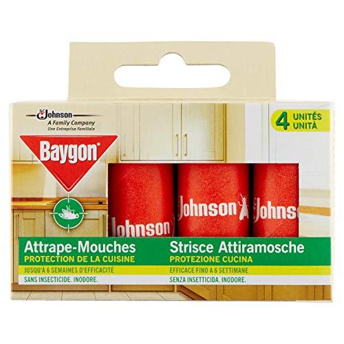 Baygon® rubans attrape-mouches à suspendre, 4 rubans