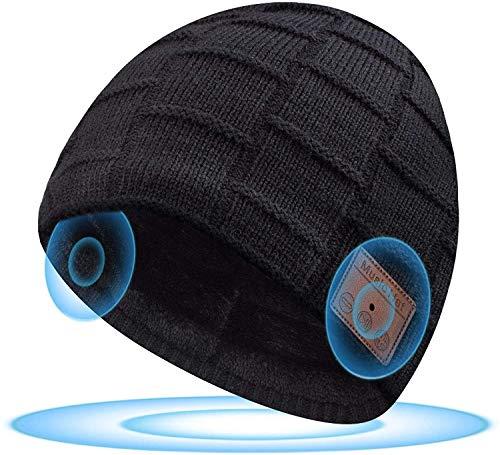 Geschenke für Männer Weihnachten Bluetooth Mütze - Pärchen Geschenke Fashion Unisex Bluetooth Mütze, Upgrade Bluetooth 5.0 Kopfhörern Mütze mit Freisprechfunktion für HD Musik und Anrufe, Waschbar