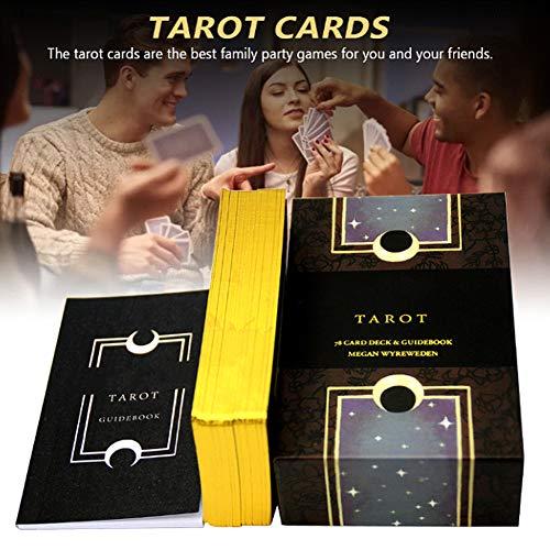 Anima Mundi Tarot Cards,78Pcs Tarot Deck Gold-Plated Tarot Solitaire Board Games Divination Family Party Game(English)