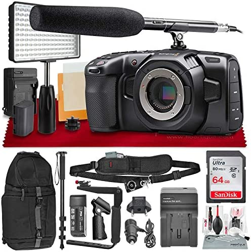 Blackmagic Design Pocket Cinema Camera 4K with Micro Four Thirds Mount Condenser Shotgun Microphone product image
