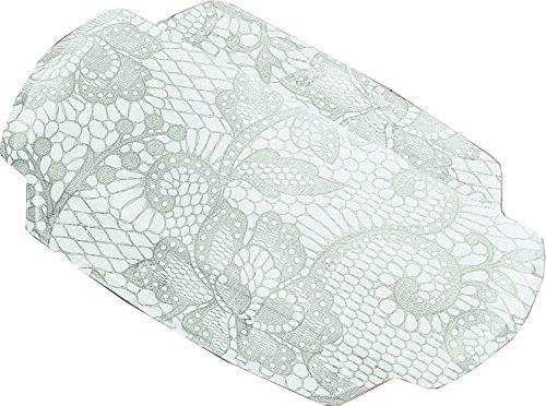 Kleine Wolke Textilgesellschaft 4103146008 Spitze, Plastique, Gris Argent, 32 x 22 cm
