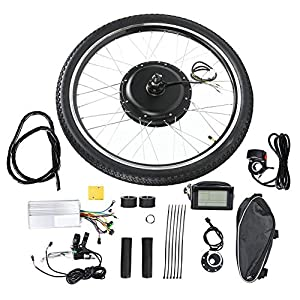 Electric Bikes Pokerty Electric Bicycle Motor Kit, 26″ Rear/Front Wheel And 48V 1000W E-Bike Motor Kit with LCD Meter Endurance E-bike Kit for Road Bike [tag]