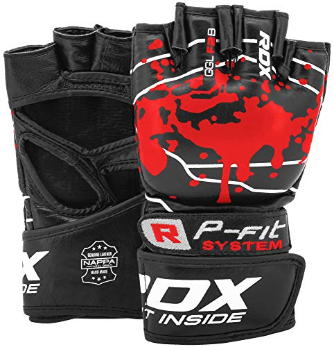 RDX MMA Gloves for Martial Arts Grappling Training, Approved by SMMAF, Open...