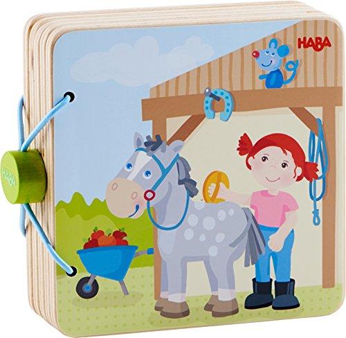HABA- Livre en Bois pour bébé Centre équestre, 303774