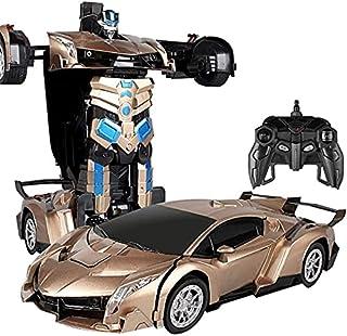 عربية روبوت متحولة بريموت كونترول ذهبي