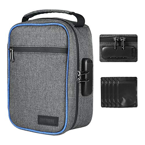 Upgraded Waterproof Smell Proof Bag Case Stash Bag 8.3x6x3.5 Inch with Strong...