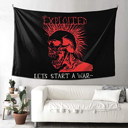 N\A The Exploited Let's Start A War Band Tapiz Colgante de Pared Tapiz Colorido Decoración del hogar Dormitorio Sala de Estar Decoración del Dormitorio Universitario.
