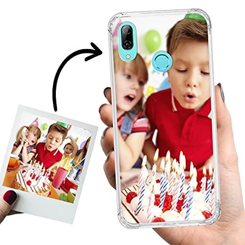 Phone Case Trends Funda Huawei P Smart 2019 Personalizada con Foto – Carcasa Personalizable Semi Rígida Bordes Reforzados - Funda Transparente, Antigolpes, Silicona - Impresión Directa en Fund