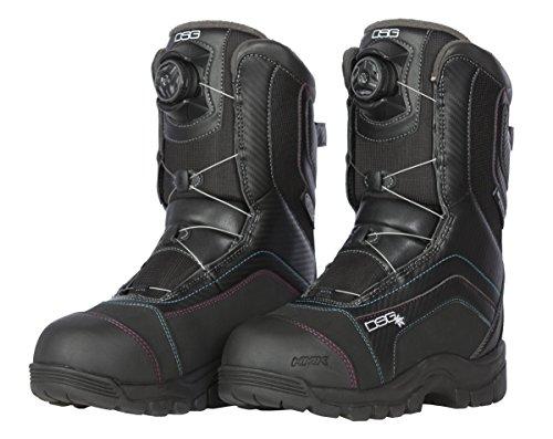 Divas SnowGear Women's Avid Technical Boots with Boa (Black, 7)