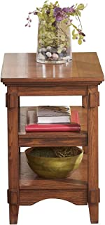 Ashley Furniture Signature Design - Cross Island Rustic Oak Chair Side End Table - Medium Brown
