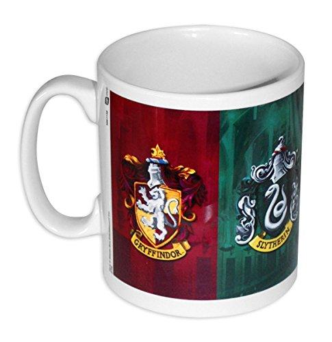 Taza Harry Potter - Escudo de Armas de las 4 Casas de Hogwarts