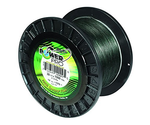 PowerPro Power Pro 21100150500E Braided Spectra Fiber Fishing Line, 15 Lb/500 yd, Moss Green