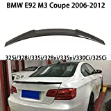 QCWY Spoiler de Coffre de Voiture, adapté pour BMW E92 325i/328i/335i/328xi/335xi/330Ci/325Ci M3 Coupe Lèvre Toit Aile becquet aileron en 2006-2012 Arrière Tailfin Wing