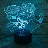 Solo 1 artículo Lámpara 3D Color LED Lámparas de noche para niños Touch Led Usb Lámpara de mesa Lampe Baby Sleeping Nightlight Led con sensor