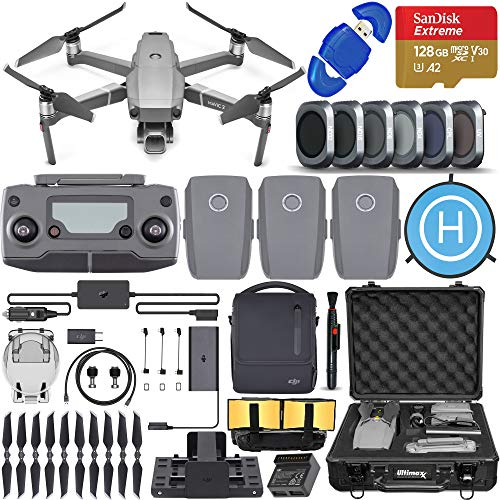 DJI Mavic 2 Pro Drone Quadcopter with Hasselblad Camera, Fly More Combo, 3 Batteries, 6 Piece Filter Kit, SanDisk 128gb Memory Card, Shock Proof Case, More