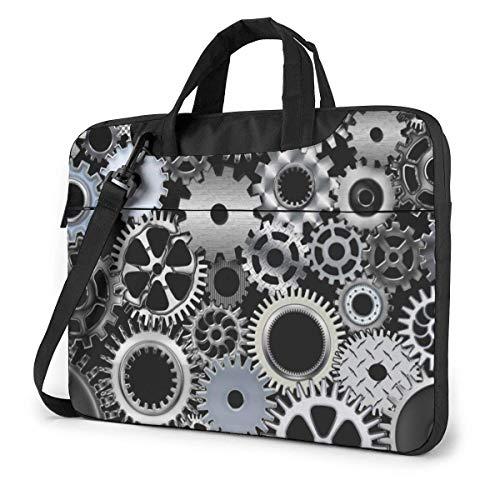 Borsa a tracolla per custodia per laptop con ingranaggio di ingegneria meccanica per notebook 13-15.6