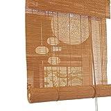 ZXL Bambus Rollos, Außenlicht Filterung Rollläden Jalousie für Veranda Patio Pergola Balkon Hinterhof (Size : 90cm×160cm)