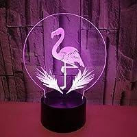 3Dナイトライトフラミンゴカラフルステレオビジョンライト省エネ目の保護LED 3Dライト