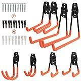Yikaich 8pcs Crochet de Rangement de Garage pour Accrocher les échelles/vélos/outils de jardin