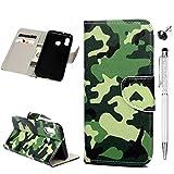 A20e Handyhülle Kompatible für Samsung Galaxy A20e Hülle Wallet Case Cover PU Leder Tasche Malen...