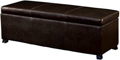 Amazon.com: Upholstered Bench with Fold Out Sleeper and Casters