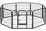 BestPet Dog Pen Playpen Dog Fence Extra Large Indoor Outdoor Heavy Duty 8 Panels 32 Inches Exercise Pen Dog Crate Cage Kennel Hammigrid