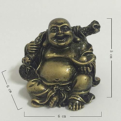 ETHAN Chinesische Barren Bronze Farbe Lachender Buddha Statue Skulptur Carviing Figuren für Hausgarten Dekoration Buddha Statuen. Style3