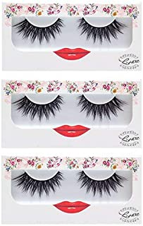 c158df58789 False Eyelashes Dramatic Strip Lashes - LashXO Lucky Lola-3pack Premium False  Eyelashes Compare to
