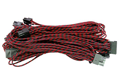 Alantik CamRAL modulaire kabel voor voeding, zwart/rood