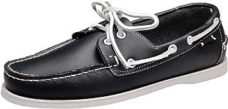 wealsex Chaussures Bateau Hommes Chaussures de Ville Derby Cuir Chaussure Affair Conduite Casuel