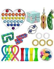 TAIPPAN Fidget Toys Pack, 21 Pack Ensemble de Jouets sensoriels Bon marché pour Enfants Adultes Figetget Toys Pop Tubes Fidget Toy