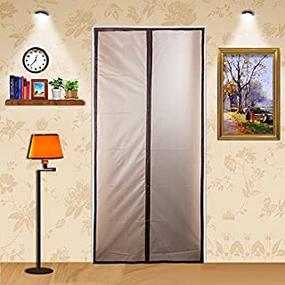 ZYettst Magnetic Thermal Insulated Door Curtain for Living Room and Kitchen,EVA Magnetic Screen Door Enjoy Your Cool Summer And Warm Winter Auto Closer Fits Doors Up To 34