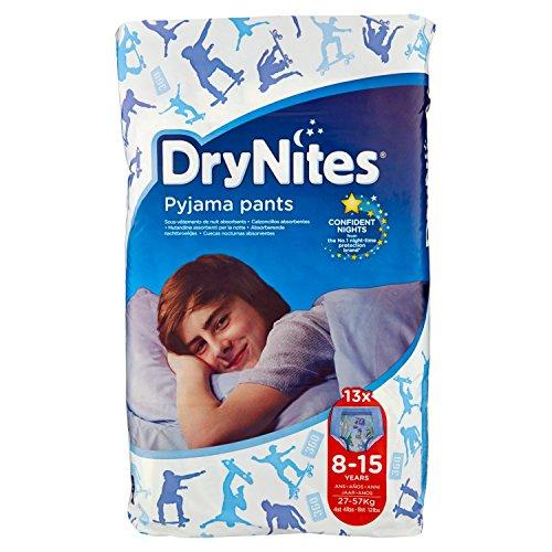 Huggies DryNites Monatspackung Nachthöschen, für Jungen, 8-15Jahre (27-57kg), 2x13Stück