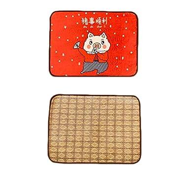 Matelas Tapis for Chien Four Seasons Tapis Universel for Chien Été Pet Cool Pad Golden Retriever Tapis de Sol Tapis de climatisation (Color : Pig, Size : M)